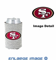 Can Cooler Koozie - Glitter Style - San Francisco 49ers