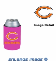 Can Cooler Koozie - Pink Style - Chicago Bears