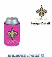 Can Cooler Koozie - Pink Style - New Orleans Saints