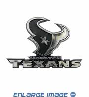 Car Trunk 3D Chrome Emblem - Houston Texans