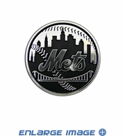 Car Trunk 3D Chrome Emblem - New York Mets