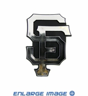 Car Trunk 3D Chrome Emblem - San Francisco Giants