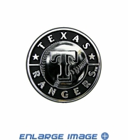 Car Trunk 3D Chrome Emblem - Texas Rangers