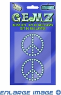Decal Kit - Car Truck SUV - Gemz Bling - Peace Sign Logo