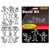 Decal Sticker Kit - Car Truck SUV - 12pc - Stick People Family