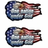 2pc Decal Sticker - Car Truck SUV - Decalz - One nation under God - USA Eagle