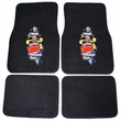 Front and Rear Floor Mats - Carpet - Car Truck SUV - Tattoo Red Heart and Sword