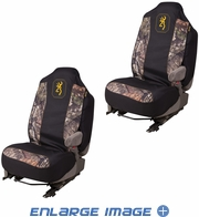 Front Car Truck SUV Bucket Seat Covers - Browning Buckmark Camo - PAIR