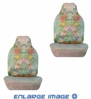 Front Car Truck SUV Bucket Seat Covers - Flowers - Hawaiian Flowers - pair