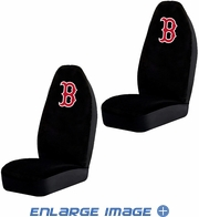 Front Car Truck SUV Bucket Seat Covers - MLB - Boston Red Sox - Pair