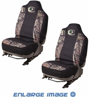 Front Car Truck SUV Bucket Seat Covers - Mossy Oak Infinity Camo - PAIR