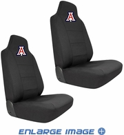 Front Car Truck SUV Bucket Seat Covers - NCAA - Arizona - Wildcats - PAIR