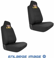 Front Car Truck SUV Bucket Seat Covers - NCAA - LSU - Fighting Tigers - PAIR