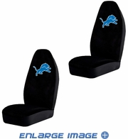 Front Car Truck SUV Bucket Seat Covers - NFL - Detroit Lions - Pair