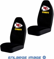 Front Car Truck SUV Bucket Seat Covers - NFL - Kansas City Chiefs - Pair
