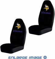 Front Car Truck SUV Bucket Seat Covers - NFL - Minnesota Vikings - PAIR