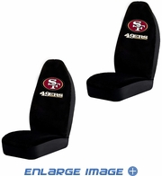 Front Car Truck SUV Bucket Seat Covers - NFL - San Francisco 49ers - Pair