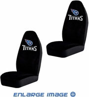 Front Car Truck SUV Bucket Seat Covers - NFL - Tennessee Titans - Pair