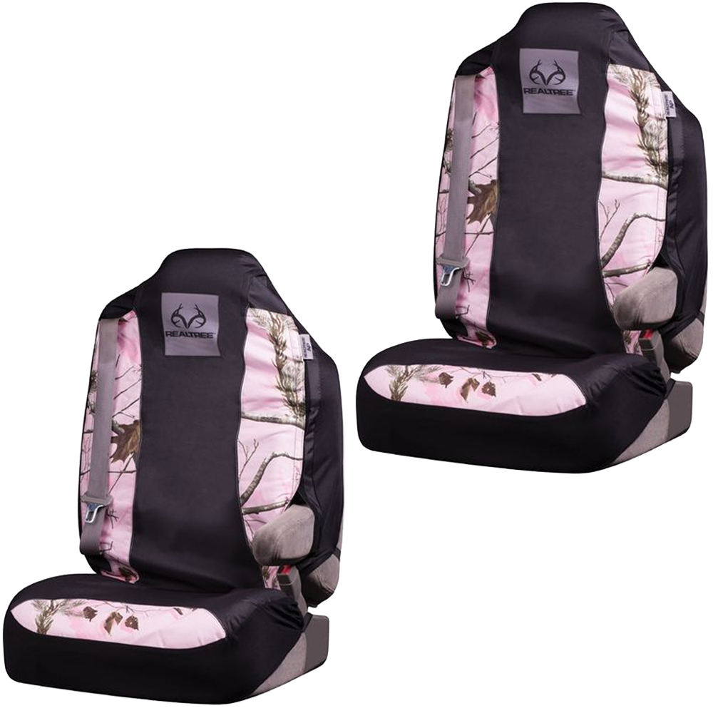 Pink Camouflage Seat Covers