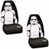 Front Universal Bucket Seat Covers - Car Truck SUV - Star Wars - Storm Trooper - PAIR