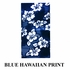 Front Car Truck SUV Universal-fit Bucket Seat Covers - Hawaiian Hibiscus Flowers - Blue - pair