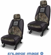 Front Car Truck SUV Low Back Bucket Seat Covers - Camouflage - Realtree Outfitters - PAIR