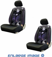 Front Car Truck SUV Low Back Bucket Seat Covers - Nightmare Before Christmas - Jack Graveyard - PAIR