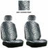 Front Car Truck SUV Low Back Bucket Seat Covers - Animal Print - Leopard - Grey Snow - pair