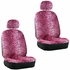 Front Car Truck SUV Low Back Bucket Seat Covers - Animal Print - Leopard - Pink - pair