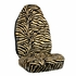 Front Car Truck SUV Universal-fit Bucket Seat Covers - Animal Print - Zebra - Beige Tan - pair