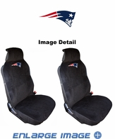Front Car Truck SUV Universal-fit Low Back Bucket Seat Covers - New England Patriots - PAIR