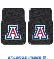 Front Floor Mats - Rubber - Car Truck SUV - NCAA - Arizona Wildcats