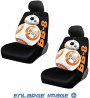 Front Low Back Bucket Seat Covers - Disney - Star Wars - BB-8 - PAIR