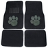 Front & Rear Seat Carpet Floor Mats - Car Truck SUV - Crystal Studded Rhinestone Bling - Paw