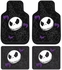 Front & Rear Seat Rubber Floor Mats - Car Truck SUV - Nightmare Before Christmas - Jack Skellington - Bones