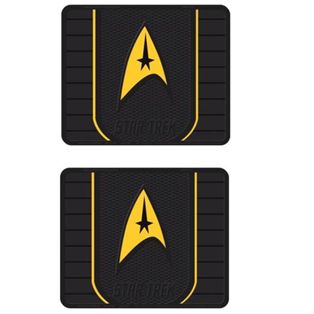 Front Rear Seat Rubber Floor Mats Car Truck Suv Star Trek