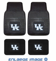 Front & Rear Seat Vinyl Floor Mats - Car Truck SUV - KY University of Kentucky Wildcats