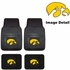 Front & Rear Seat Vinyl Floor Mats - Car Truck SUV - University of Iowa