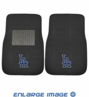 Front Seat Embroidered Carpet Floor Mats - Car Truck SUV - MLB - Los Angeles Dodgers