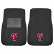 Front Seat Embroidered Carpet Floor Mats - Car Truck SUV - MLB - Philadelphia Phillies