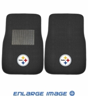 Front Seat Embroidered Carpet Floor Mats - Car Truck SUV - NFL - Pittsburgh Steelers