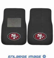 Front Seat Embroidered Carpet Floor Mats - Car Truck SUV - NFL - San Francisco 49ers