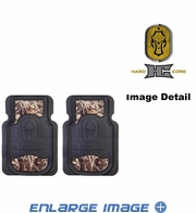 Front Seat Heavy Duty Trim-to-Fit Floor Mats - Car Truck SUV - Camouflage - Hard Core Decoys
