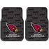Front Seat Rubber Floor Mats - Car Truck SUV - Arizona Cardinals