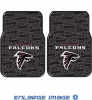 Front Seat Rubber Floor Mats - Car Truck SUV - Atlanta Falcons