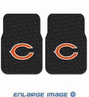 Front Seat Rubber Floor Mats - Car Truck SUV - Chicago Bears