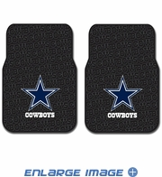 Front Seat Rubber Floor Mats - Car Truck SUV - Dallas Cowboys