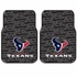 Front Seat Rubber Floor Mats - Car Truck SUV - Houston Texans - PAIR