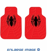 Front Seat Rubber Floor Mats - Car Truck SUV - Marvel Comics - Spider-Man