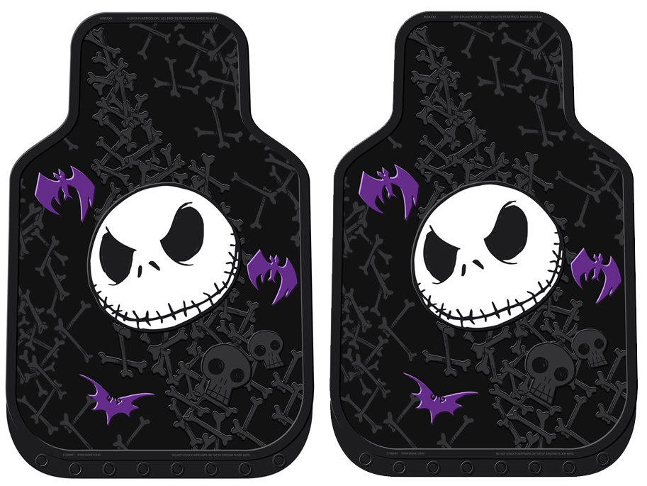 Front Seat Rubber Floor Mats - Car Truck SUV - Nightmare Before ...